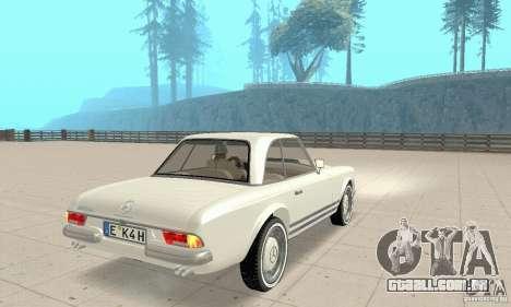 Mercedes-Benz 280SL (brilhante) para GTA San Andreas esquerda vista