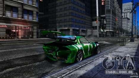 Mazda RX-7 Bushido para GTA 4 vista interior