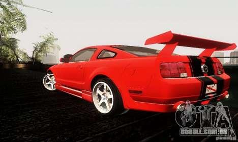 Ford Mustang GT Tunable para GTA San Andreas vista direita