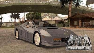Ferarri Testarossa 1991 para GTA San Andreas