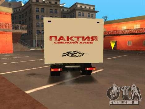 GÁS-3310 Valdai para GTA San Andreas traseira esquerda vista