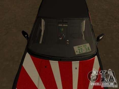 Nissan Silvia S13 JDM para GTA San Andreas vista traseira