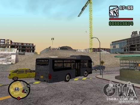Daewoo BS110CN para GTA San Andreas esquerda vista