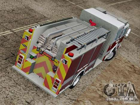 Pierce Pumpers. San Francisco Fire Departament para vista lateral GTA San Andreas