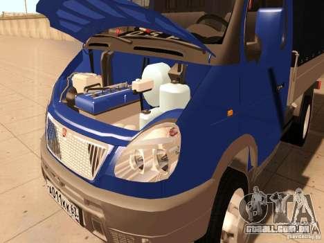 3302 gazela para GTA San Andreas vista interior