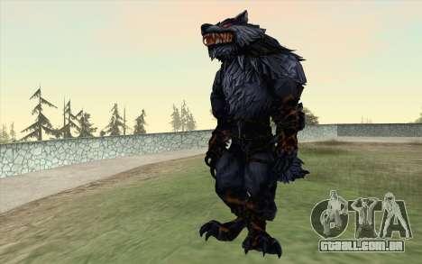 Werewolf Transformation V1.0 para GTA San Andreas