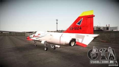 Mitsubishi T-2 para GTA San Andreas traseira esquerda vista