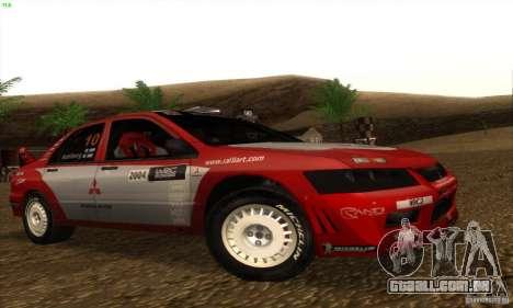 Mitsubishi Lancer Evolution VII para GTA San Andreas esquerda vista