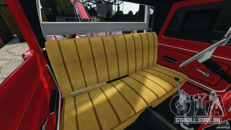 Chevrolet C20 Towtruck 1966 para GTA 4 vista interior