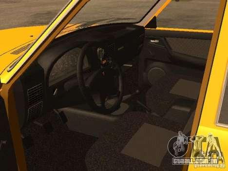 Volga GAZ-31105 táxi para GTA San Andreas vista interior