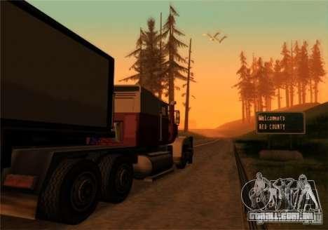 Transporte por caminhão v 2.0 para GTA San Andreas segunda tela