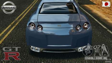 Nissan GT-R 35 rEACT v1.0 para GTA 4 vista lateral