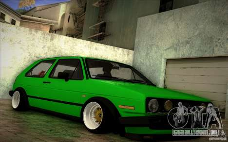 VW Golf MK2 Stanced para GTA San Andreas vista direita