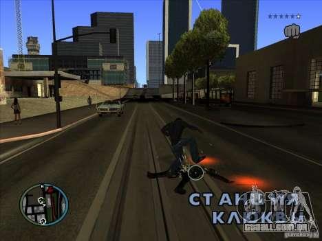 GTA IV TARGET SYSTEM 3.2 para GTA San Andreas quinto tela