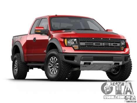 Telas de carregamento Ford para GTA San Andreas quinto tela
