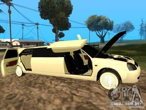LADA Priora 2170 Limousine para GTA San Andreas vista direita
