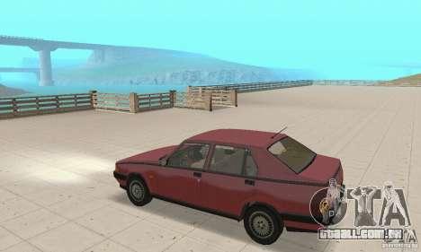 Alfa Romeo 75 para GTA San Andreas vista direita