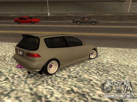 Honda Civic EG6 JDM para GTA San Andreas esquerda vista