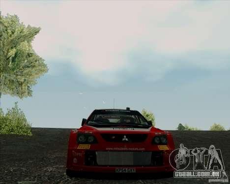 Mitsubishi Lancer Evolution VIII WRC para GTA San Andreas vista interior