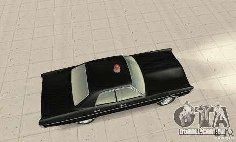 Plymouth Fury III Police para GTA San Andreas traseira esquerda vista