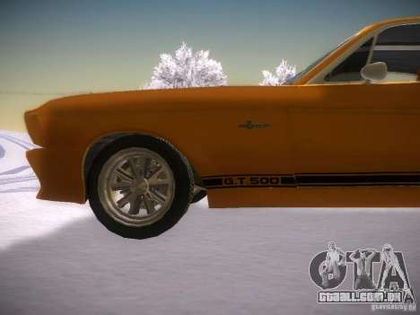 Shelby GT500 Eleanor para GTA San Andreas esquerda vista