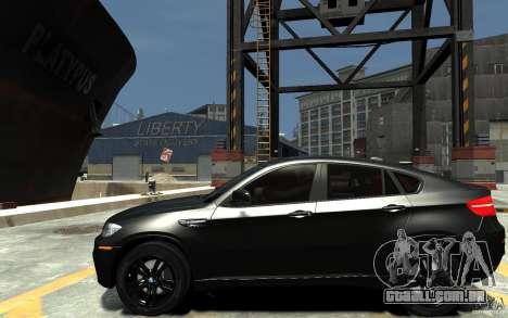 BMW X6 M para GTA 4 esquerda vista