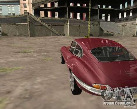 Jaguar E-Type Coupe para GTA San Andreas vista direita