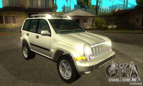 Jeep Liberty 2007 para GTA San Andreas vista traseira