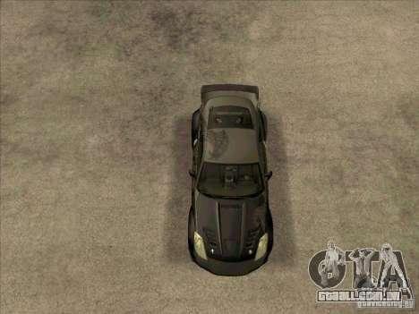 Nissan 350Z DK from FnF 3 para GTA San Andreas vista direita