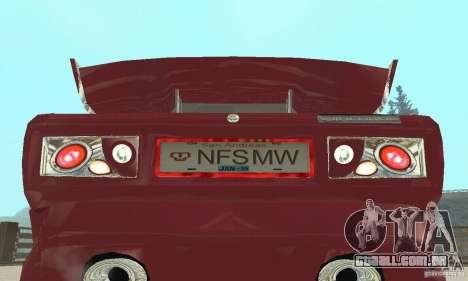 VAZ 2107 Ex Tuning para GTA San Andreas vista traseira