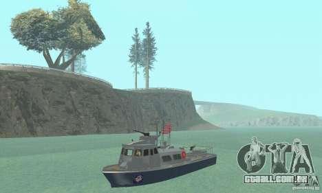 Coast Guard Patrol Boat para GTA San Andreas