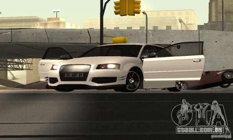 Audi S3 Full tunable para GTA San Andreas vista traseira