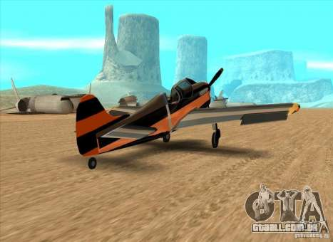New Rustler para GTA San Andreas traseira esquerda vista