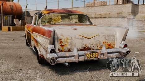 Chevrolet Bel Air 1957 Rusty para GTA 4 traseira esquerda vista