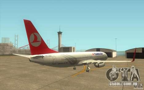 Boeing 737-800 THY para GTA San Andreas vista direita