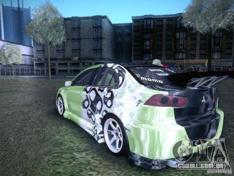 Mitsubishi Lancer Evolution X - Tuning para GTA San Andreas esquerda vista