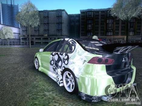 Mitsubishi Lancer Evolution X - Tuning para GTA San Andreas esquerda vista