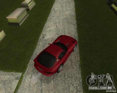 Dodge Viper GTS Coupe para GTA San Andreas traseira esquerda vista