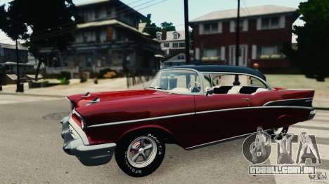 Chevrolet Bel Air Hardtop 1957 Light Tun para GTA 4 esquerda vista