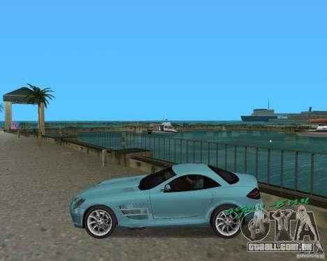 Mercedess Benz SLR Maclaren para GTA Vice City deixou vista