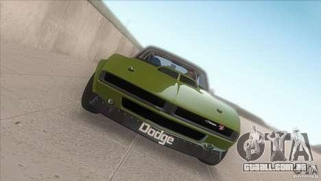Dodge Charger RT SharkWide para GTA San Andreas vista interior