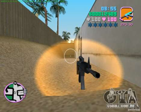 M4 de Counter Strike Source para GTA Vice City segunda tela