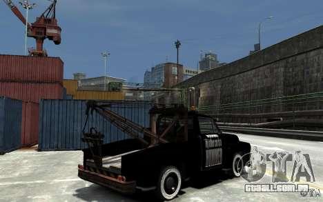Black Towtruck para GTA 4 vista direita