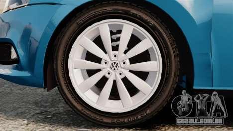 Volkswagen Voyage G6 2013 para GTA 4 vista de volta