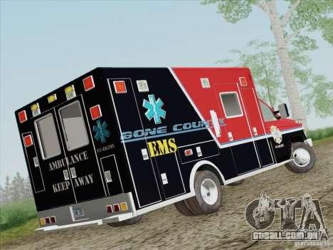 Ford E-350 AMR. Bone County Ambulance para GTA San Andreas vista direita