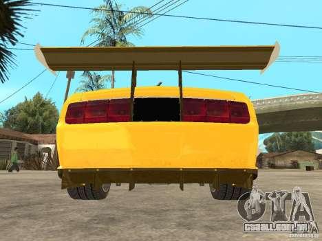 Ford Mustang GT-R para GTA San Andreas vista traseira