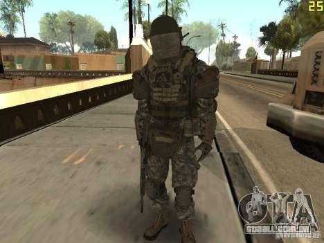 Combate de soldados de CoD: Mw2 para GTA San Andreas