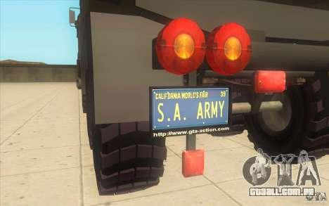 IFA 6x6 Army Truck para GTA San Andreas vista direita