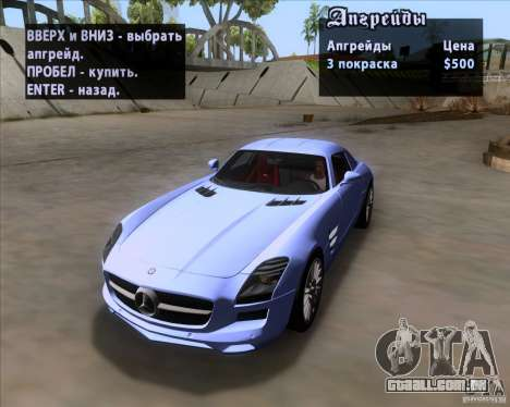 Mercedes-Benz SLS AMG V12 TT Black Revel para GTA San Andreas vista superior