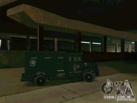 Stokade SAPD SWAT Van para GTA San Andreas vista traseira